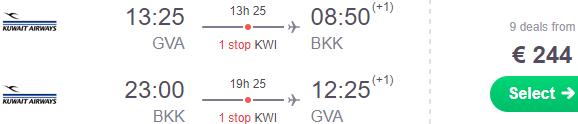 Super cheap return flights from Geneva to Bangkok or Sri Lanka for €244!