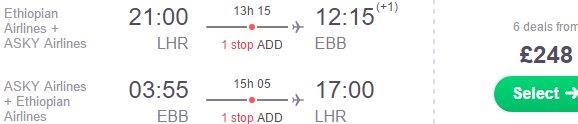Return flights from London to Entebbe, Uganda from £248!
