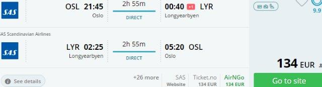 Summer flights to Svalbard Islands from €134 or £171 round-trip!