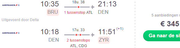 Air France promotional sale from Belgium to Denver, Houston or San Francisco €345!