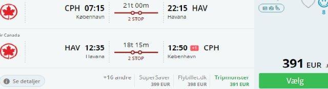 Cheap return flights from Scandinavia to Cuba from €391!
