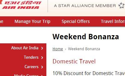 Air India promotion code 2017 - save up to 10% off all flights!