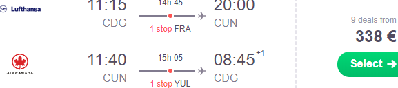 Star Alliance: Fly from Paris to Cancun or Mexico City from €338 return!
