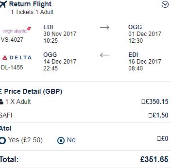 Return flights from Edinburgh to Kahului, Hawaii already for £352!