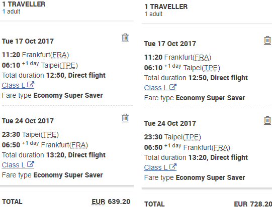China Airlines promotion code: €89 discount on flights Germany to Taipei!