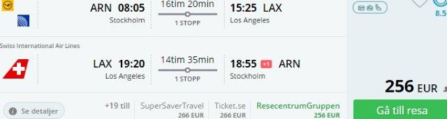 Cheap round trip flights from Scandinavia to Los Angeles from €256!