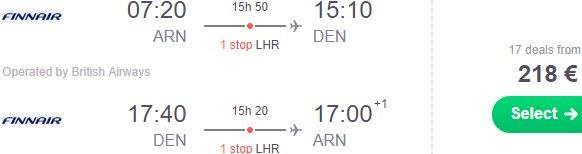 Return flights from Stockholm to Denver, Colorado from €218!
