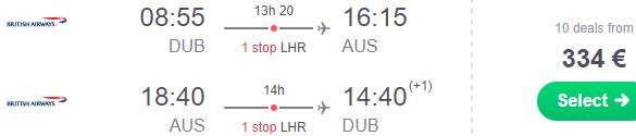 British Airways: Return flights from Ireland to Texas from €334!