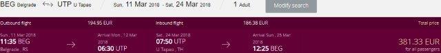 Qatar Airways return flights from Europe to Pattaya, Thailand from €381!