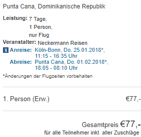 Super cheap last minute flights from Germany to Dominican Republic €77!
