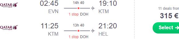 Cheap open-jaw flights to Kathmandu, Nepal from €315 or £301!