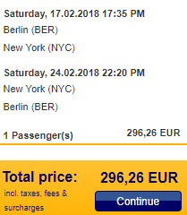 5* Lufthansa non-stop flights Berlin to New York for €297!