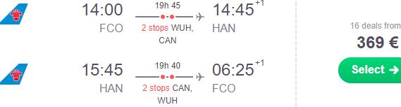 Cheap flights from Rome to Vietnam (Hanoi, Ho Chi Minh City) from €366!