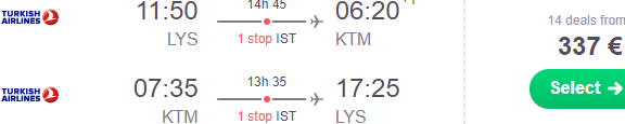 Cheap return flights from Europe to Kathmandu, Nepal from €337!