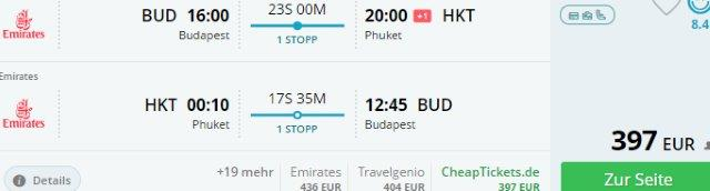 Return flights to Phuket from Budapest, Geneva or Scandinavia from €397!