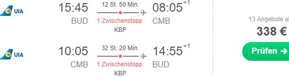 Cheap flights from Budapest to Colombo, Sri Lanka from €338 return!