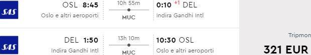 Return flights from Scandinavia to New Delhi from €321!