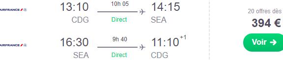 Air France cheap non-stop flights Paris to Seattle, Cincinnati, Nairobi or Beijing from €394!