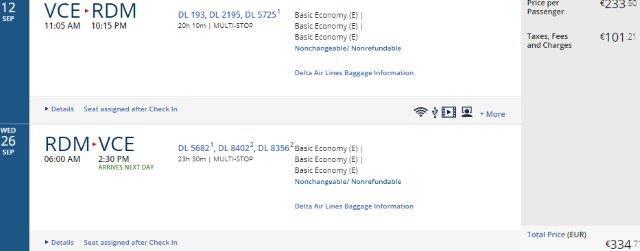 Cheap return flights from Italy to Western United States (Nevada, Idaho, Oregon, Washington) from €334!