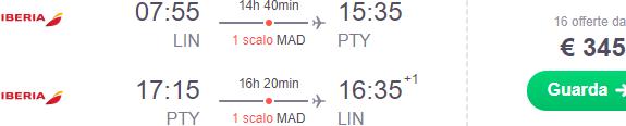 Cheap flights from Italy to Panama City already for €345!