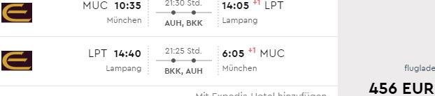 "Return flights from Germany to ""not so common"" destinations in South East Asia from €456!"