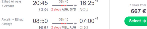 Cheap flights from Paris to Nouméa, New Caledonia from €667!