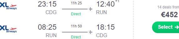 Cheap flights from Paris to Réunion (Saint-Denis) from €452 return!