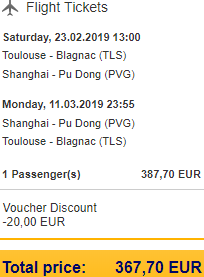 Cheap flights from France to China (Beijing, Shanghai, Hong Kong) €368 return!