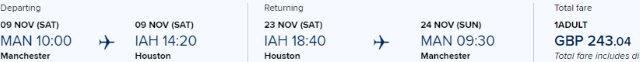 5* Singapore Airlines direct flights Manchester-Houston £243!