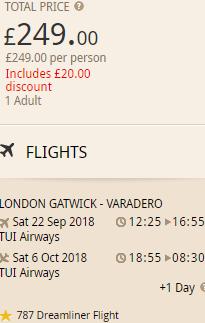 Cheap flights from London to Varadero, Cuba from £249!