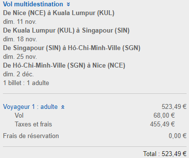 Emirates promotion: 3in1 from Frnace/UK to Asia from €524/£451! (Singapore, Malaysia, Thailand, Vietnam or Sri Lanka)