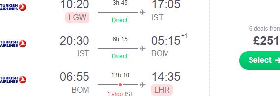 Cheap flights from the UK to India (Mumbai) already for £258!