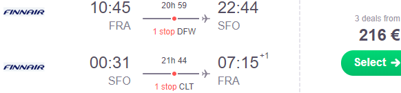 Oneworld cheap return flights from Frankfurt to USA from €216!