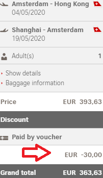 Swiss promotion code 2019 - €30 discount on all flights!