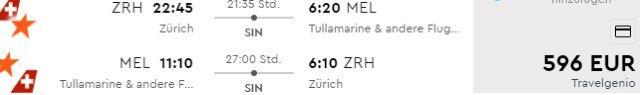 Cheap return flights from Zurich to Melbourne, Australia from €596!