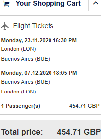 Lufthansa flights from London to Buenos Aires, Argentina from £455!