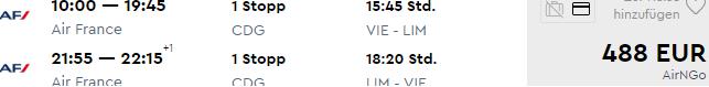 Return flights from Austria to Lima, Peru from €488!