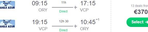 Cheap non-stop flights from Paris to Sao Paulo, Brazil from €370!