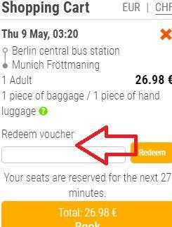 Flixbus promo code: 20% discount off all bus tickets!