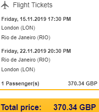Return flights from the UK airports to Rio de Janeiro, Brazil from £371!