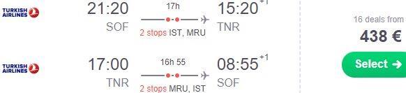 Cheap flights from Bulgaria to Antananarivo, Madagascar from €438!