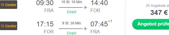 Cheap return flights from Frankfurt to Fortaleza, Brazil from €347!