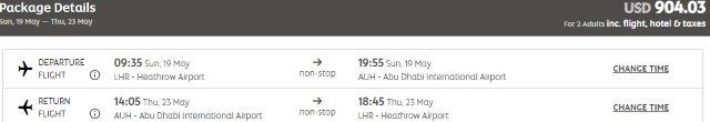 Etihad Holidays package: flights from the UK to Abu Dhabi + 4 night stay at 4* hotel from just £345!