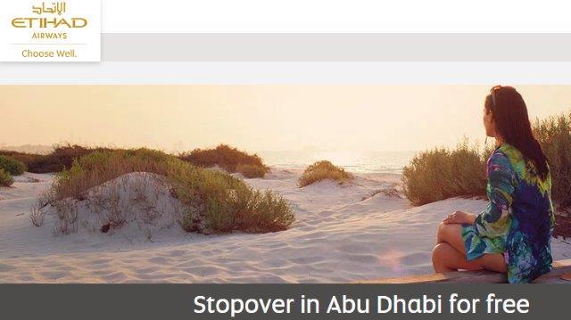 Etihad Airways free two-night stopover in Abu Dhabi!