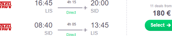 Cheap non-stop flights from Lisbon to Sal, Cape Verde from €180!