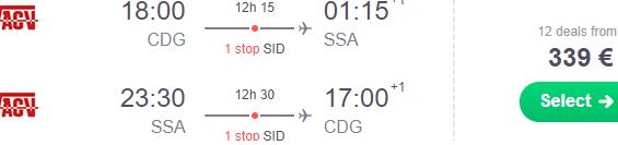 Cheap flights from Paris to Brazil (Salvador da Bahia, Fortaleza) from €339!