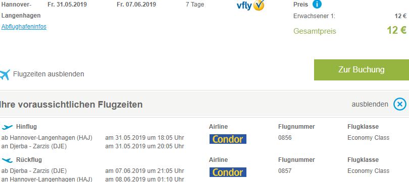 Last minute super cheap flights Hannover to Djerba, Tunisia for just €12 both ways!