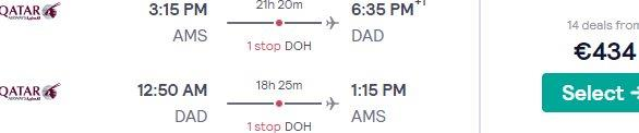 Qatar Airways flights from Amsterdam to Vietnam (HCMC, Da Nang, Hanoi) from €434!