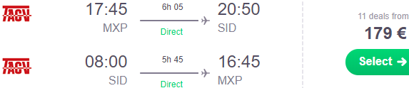 Non-stop flights from Milan or Rome to Sal, Cape Verde from €179 roundtrip!