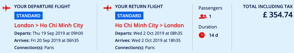 Cheap Air France flights from London to Ho Chi Minh City from £355 return!